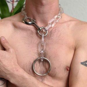 Acrylic Chain Bondage Choker